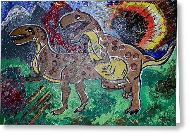 King Di-nojoel Greeting Card by Artista Elisabet