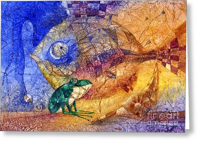 King-fish Greeting Card by Svetlana and Sabir Gadghievs