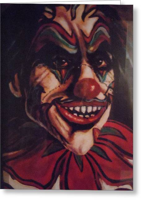 Greeting Card featuring the painting King Klown by James Guentner