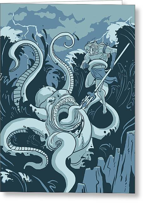 King Neptune Greeting Card by Michael Myers