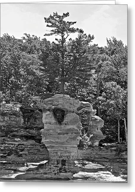 King Of The Hill Pictured Rocks Greeting Card by Michael Peychich