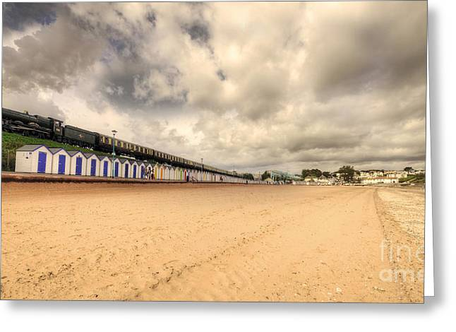 Kinlet Hall At Goodrington Sands Greeting Card by Rob Hawkins