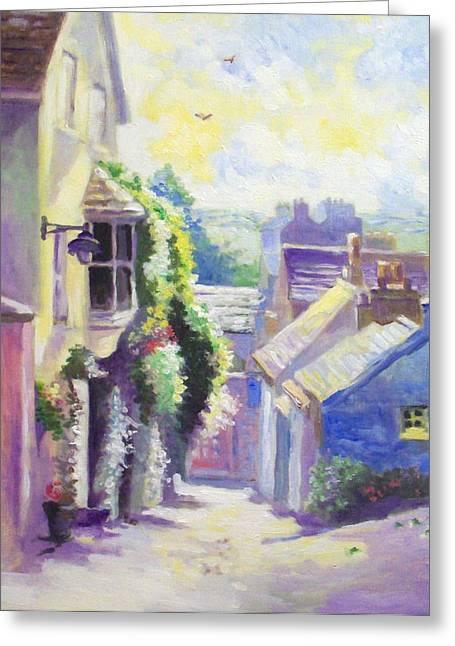 Greeting Card featuring the painting Kinsale Co Cork by Paul Weerasekera