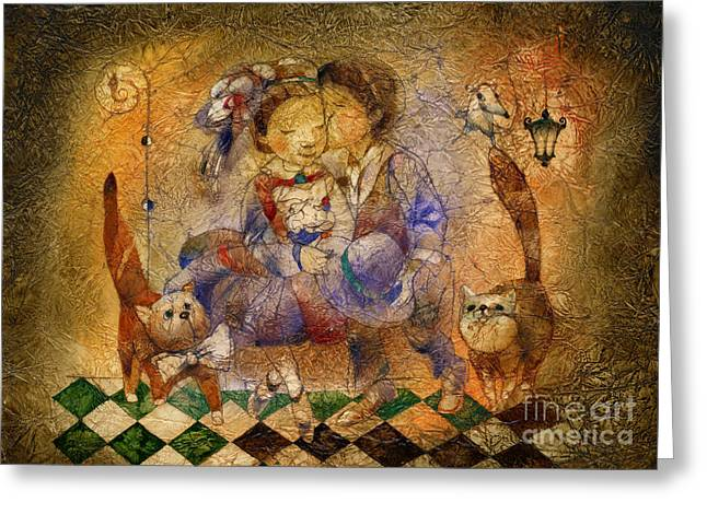 Kiss Greeting Card by Svetlana and Sabir Gadghievs