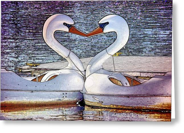 Greeting Card featuring the photograph Kissing Swans by Alice Gipson