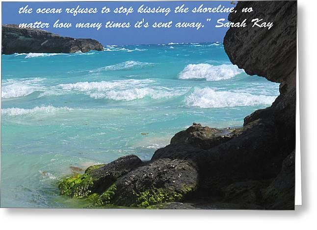 Kissing The Shore Greeting Card by Ian  MacDonald