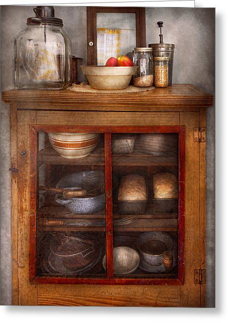 Kitchen - The Cooling Cabinet Greeting Card by Mike Savad