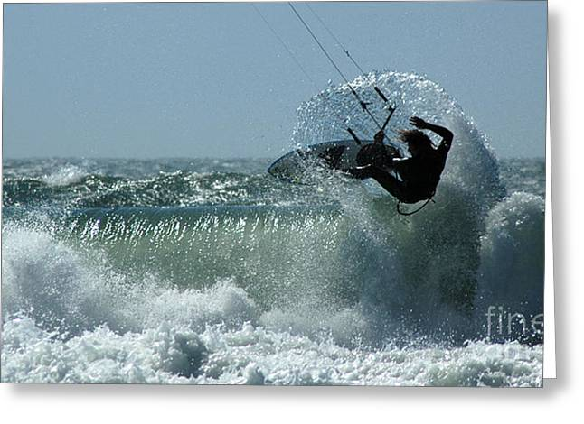 Kite Surfer Greeting Card by Vivian Christopher