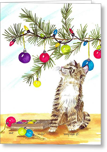 Kitten's First Christmas Greeting Card