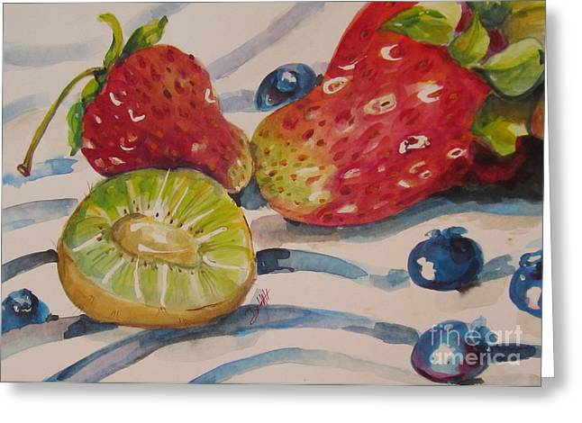 Kiwi And Berries Greeting Card by Delilah  Smith