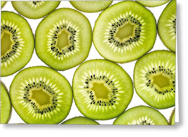 Kiwi Slices Greeting Card by Mark Sykes