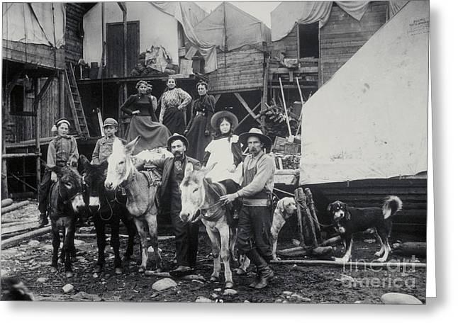 Klondike Gold Rush, 1898 Greeting Card