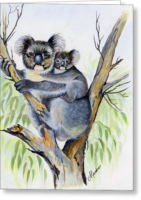 Koala And Baby Greeting Card