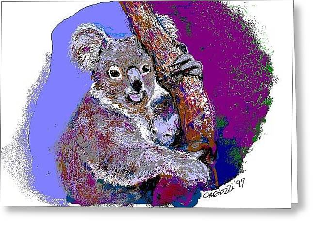 Koala's Greeting Card by Martha Carlozzi