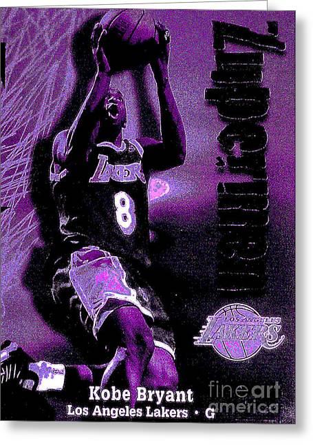Kobe Bryant Greeting Card by Marsha Heiken