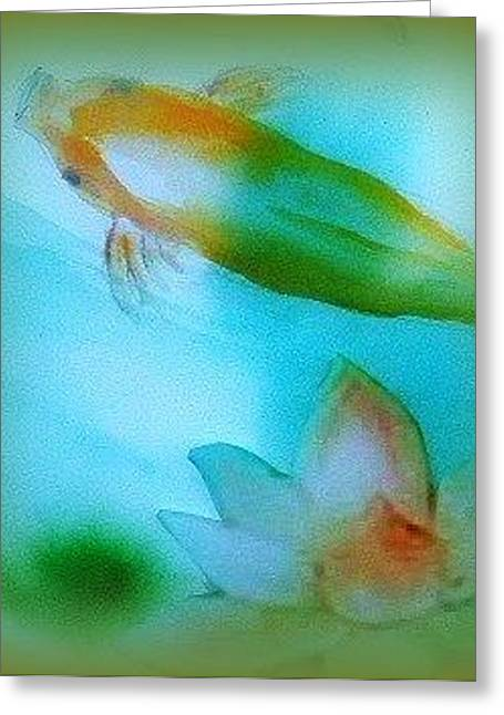 Koi  Mood  Soft Today Greeting Card by Wendy Wiese