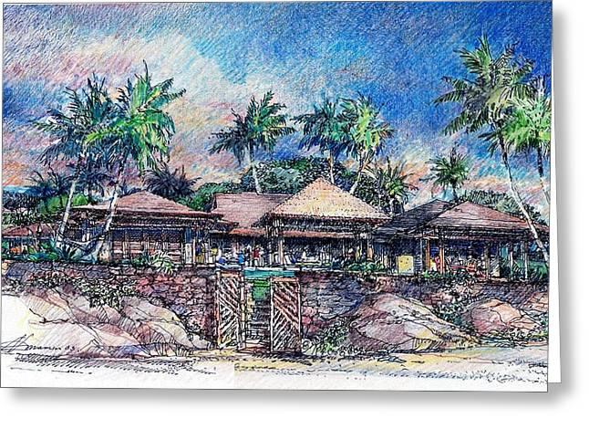 Kona Residence Greeting Card by Andrew Drozdowicz