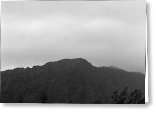 Koolau Range Greeting Card by Elizabeth  Doran