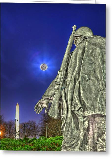 Korean War Memorial Greeting Card by Metro DC Photography