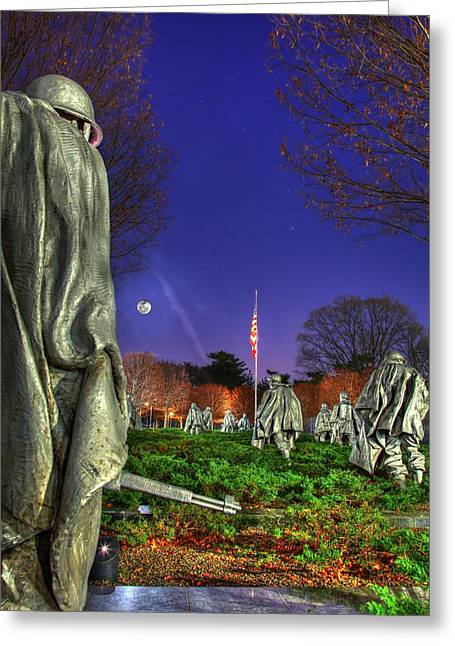 Greeting Card featuring the photograph Korean War Memorial Part II by Metro DC Photography