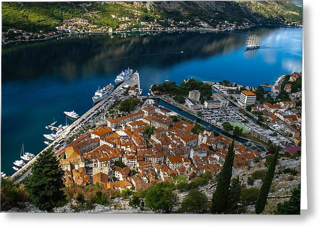 Greeting Card featuring the photograph Kotor Montenegro by David Gleeson