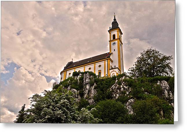 Kreuzbergkirche - Pleystein Greeting Card by Juergen Weiss