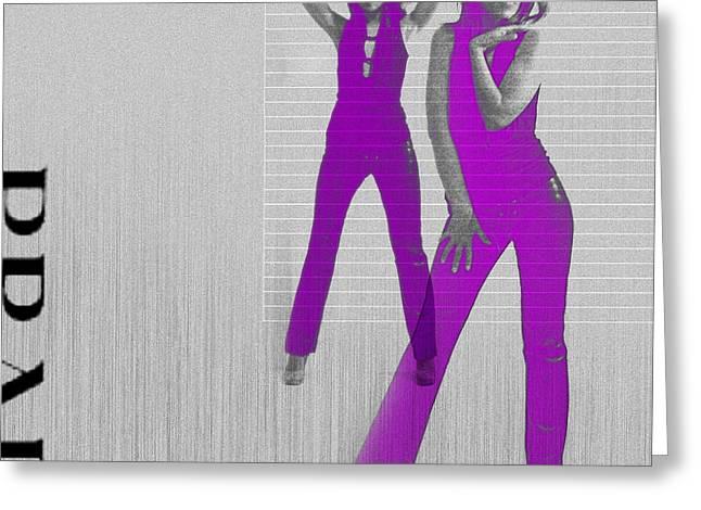 Kristina In Purple Greeting Card