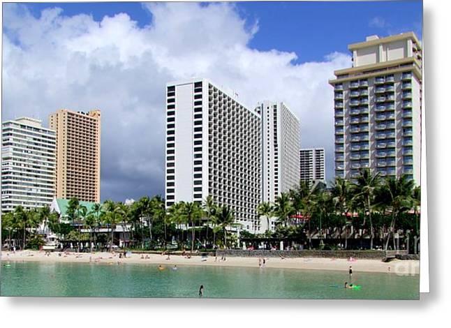 Kuhio Beach Park - Waikiki Greeting Card by Mary Deal