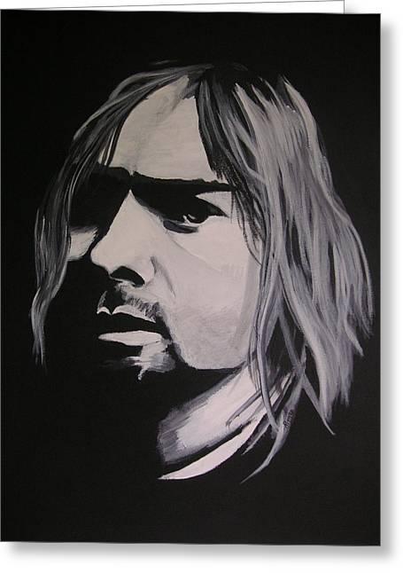 Kurt Cobain Greeting Card