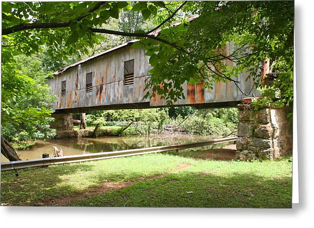 Kymulga Covered Bridge Greeting Card by Mike Ivey