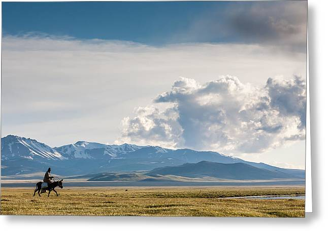 Kyrgyzstan Greeting Card by Konstantin Dikovsky