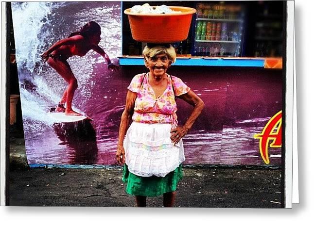 La Abuelita #eltunco  #elsalvador Greeting Card