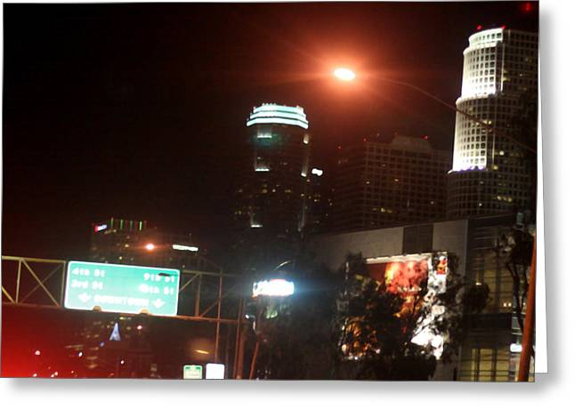 La At Night Greeting Card by Mille Kedlaw