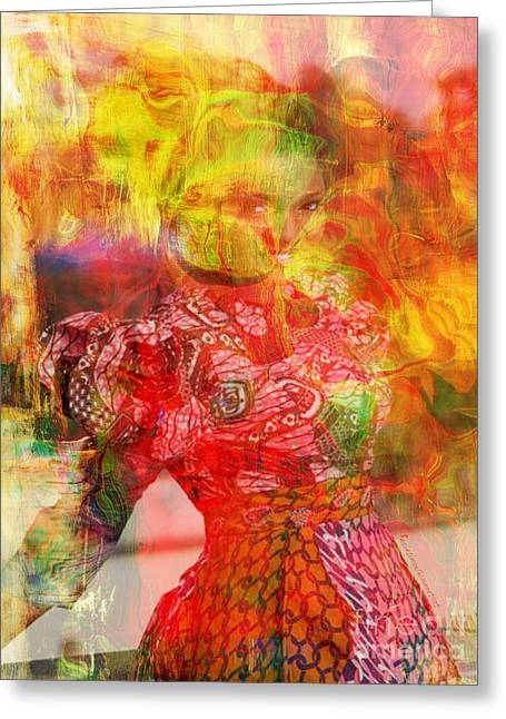 La Belle Greeting Card by Fania Simon