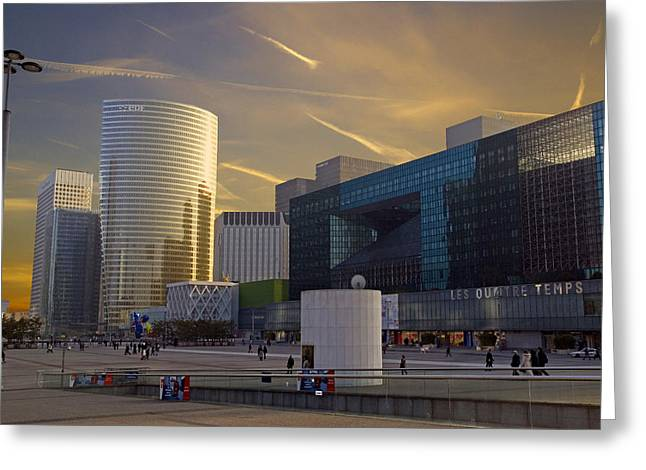 Greeting Card featuring the photograph La Defense by Rod Jones