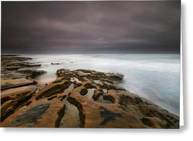 La Jolla Reef Sunset 5 Greeting Card by Larry Marshall