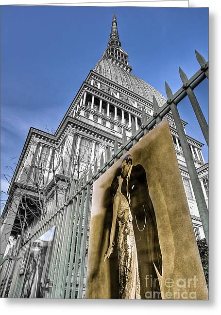 La Mole Antonelliana Greeting Card by Sonny Marcyan