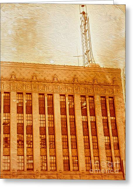 La Radio Tower Greeting Card by Gregory Dyer