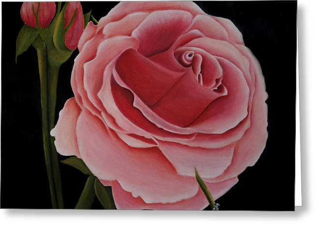 La Rosa  Greeting Card by Mary Gaines