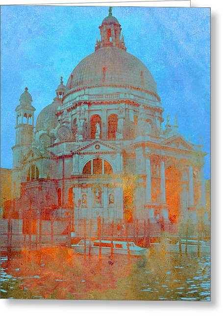 Greeting Card featuring the photograph La Salute by Rod Jones