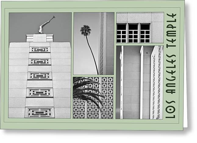 La Temple Greeting Card by Kevin Bergen