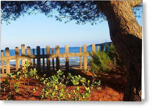 La Valla Del Mar Greeting Card by Eire Cela