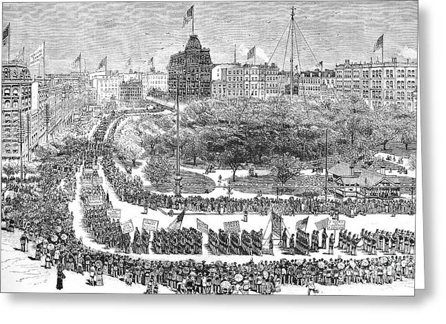 Labor Day Parade, 1882 Greeting Card by Granger