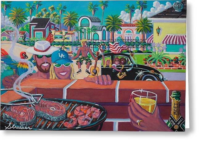 Labor Day Venice Style Greeting Card by Frank Strasser
