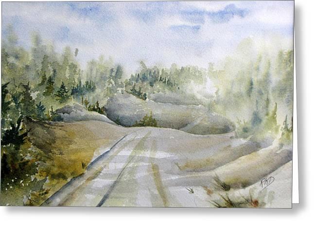 Labrador Wilderness Greeting Card by Ramona Kraemer-Dobson