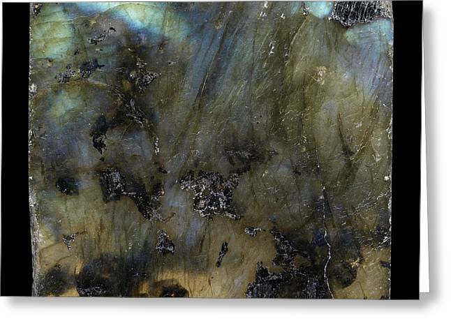 Labradorite Greeting Card by Paul Biddle