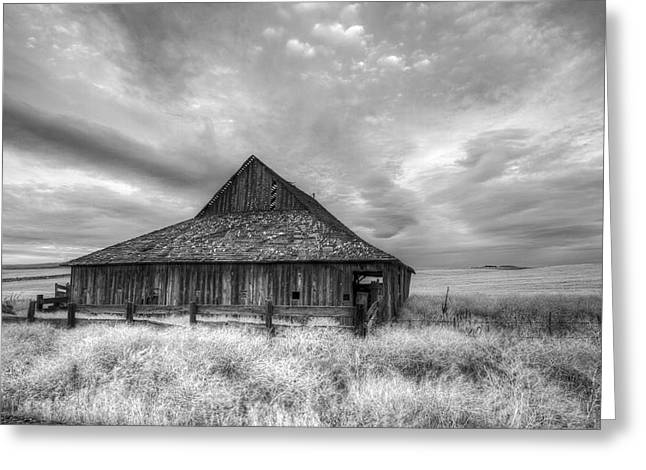 Lack Luster Barn Greeting Card by Jean Noren