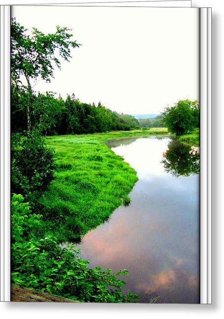 Greeting Card featuring the photograph Lacwilliam  St-ferdinand Quebec by Danielle  Parent