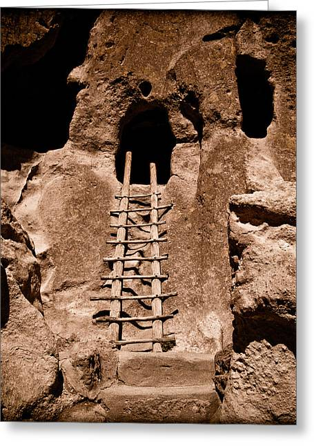 Bandelier National Monument, New Mexico - Ladder Face Greeting Card