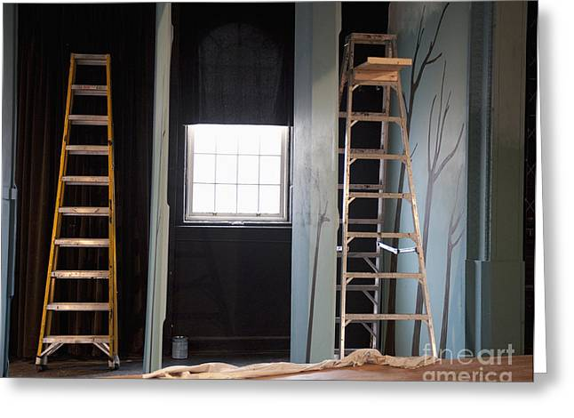 Ladders Offstage In A Theatre Photograph By Thom Gourley